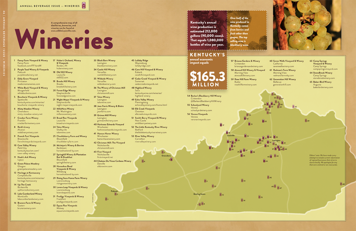 The Beverage Maps for Kentucky and Southern Indiana 2018 ...