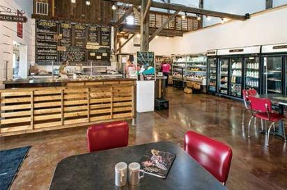inside marksbury farm resaurant and meat  market