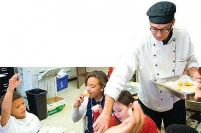 Chef Jim Whaley serving