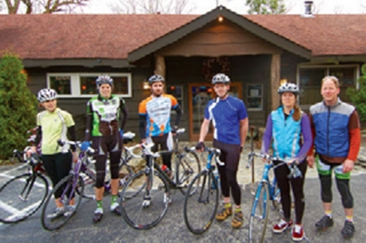 cyclists on Appalachain Trail