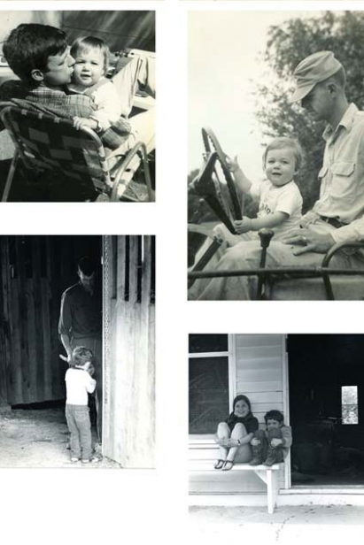 Wendell Berry with daughter Mary and son Den