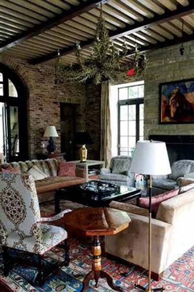 living room with couches and table