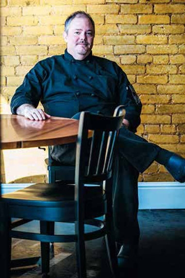 Chef William Hawkins of the Bluebird Cafe in Stanford