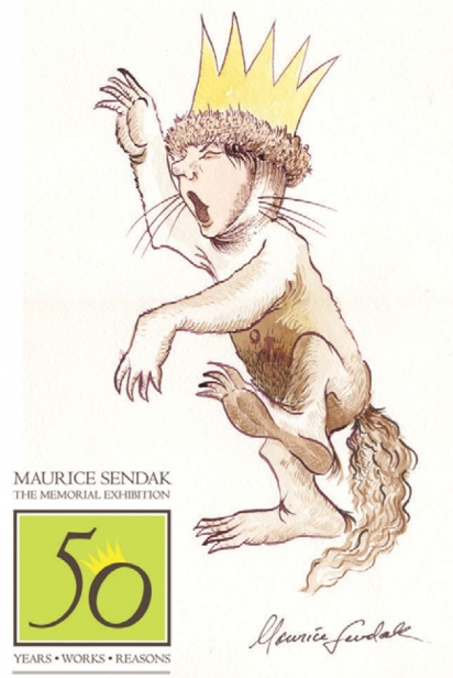 Maurice Sendak memorial exhibition graphic for 50 year anniversary