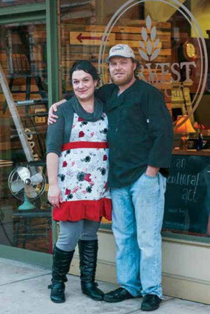 Harvest from the Heart Chef Bill Walters and wife Christy run the kitchen