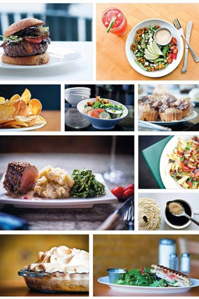 plated meals from Bluebird Cafe