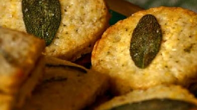 Cornmeal, Herb and Jam Sandwich Cookies