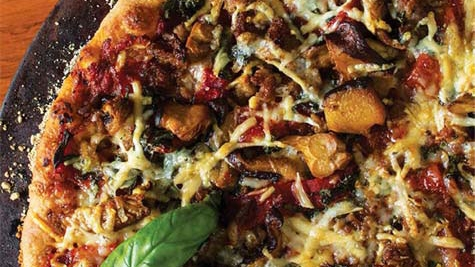 Tomese Buthod's homemade pizza with toppings